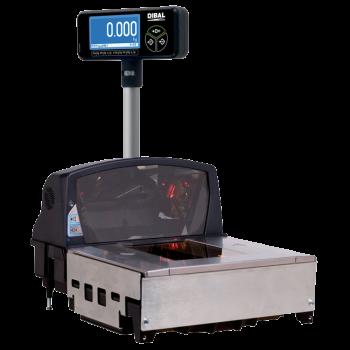 Elektronische weegschaal met ingebouwde barcodescanner (zonder printer) | KS-400 serie