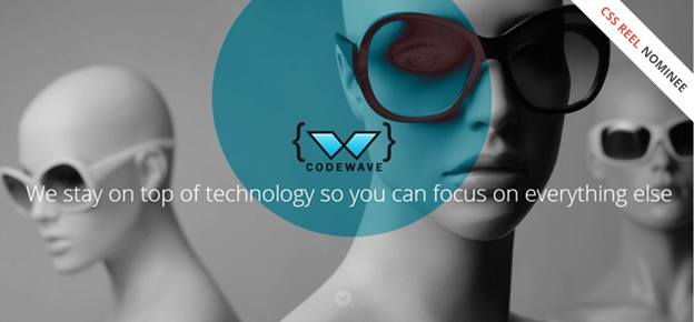 Codewave's website nominated for CSS REEL awards