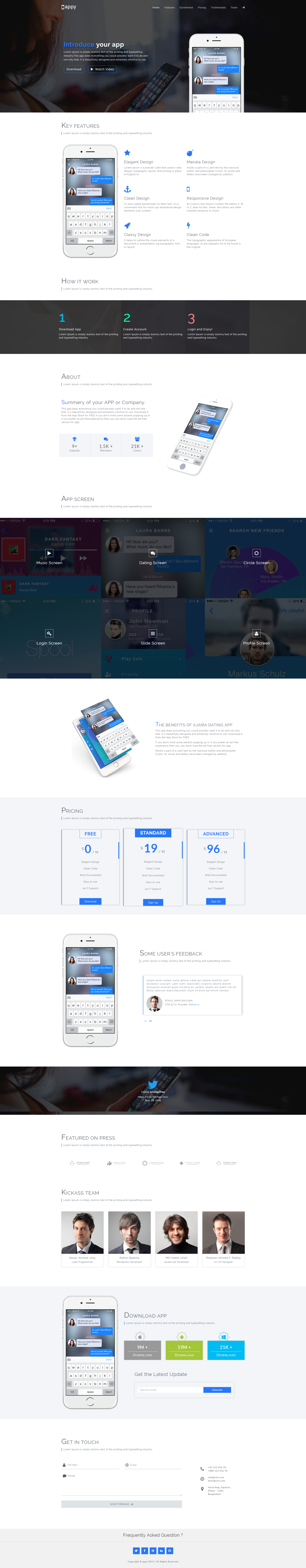Appy - App Landing Page HTML