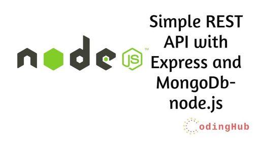 NodeJs | Create a simple REST API with Express and MongoDb- node.js
