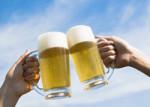 昼からビール♪
