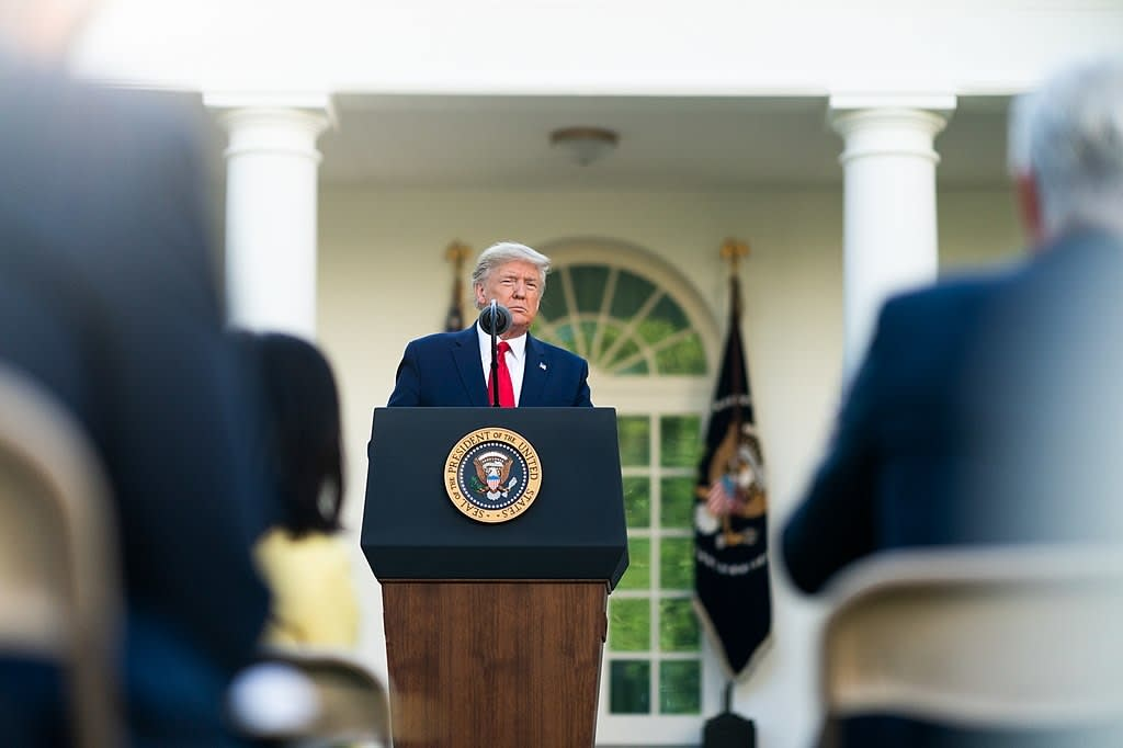 president trump holding a news conference