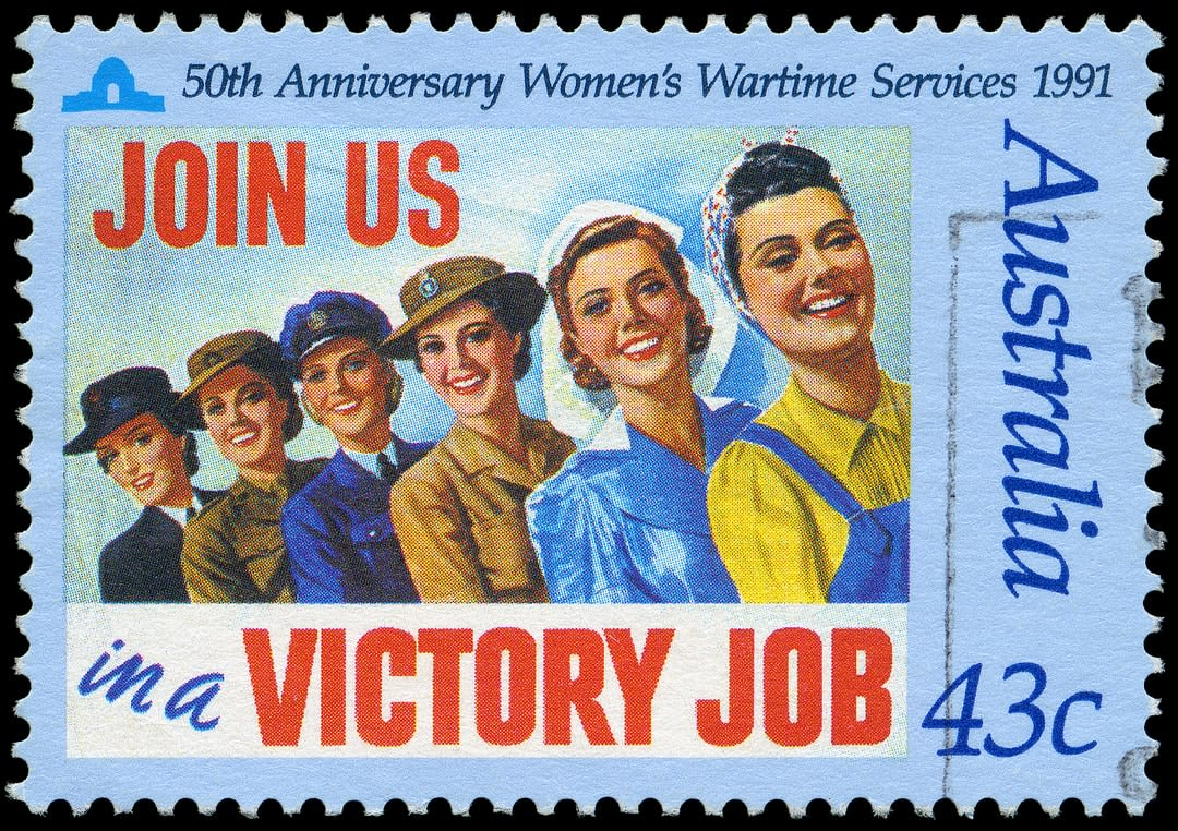anniversary stamp of women's war services