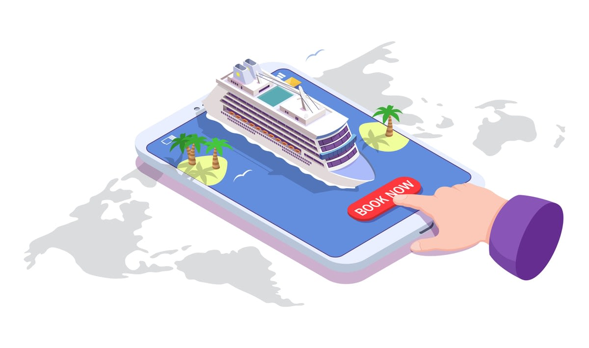 booking a cruise illustration