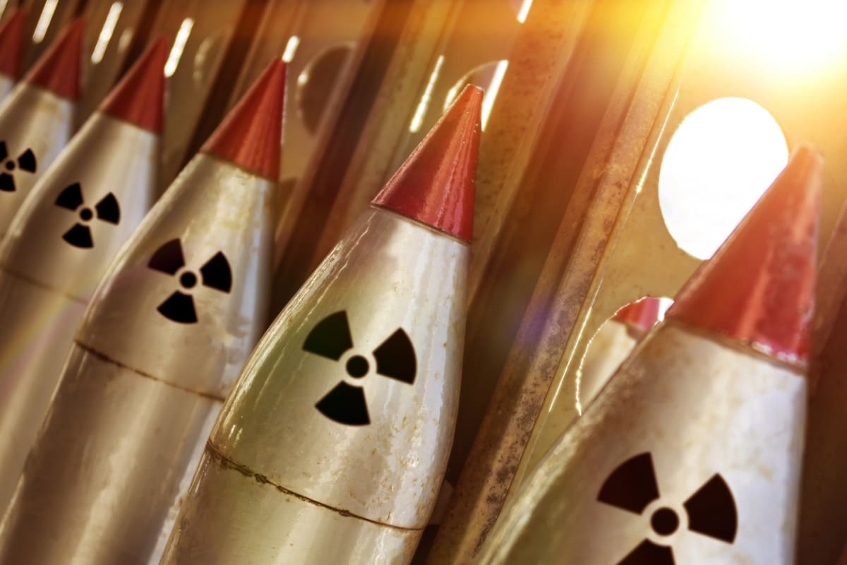Close-up picture of nuclear missiles