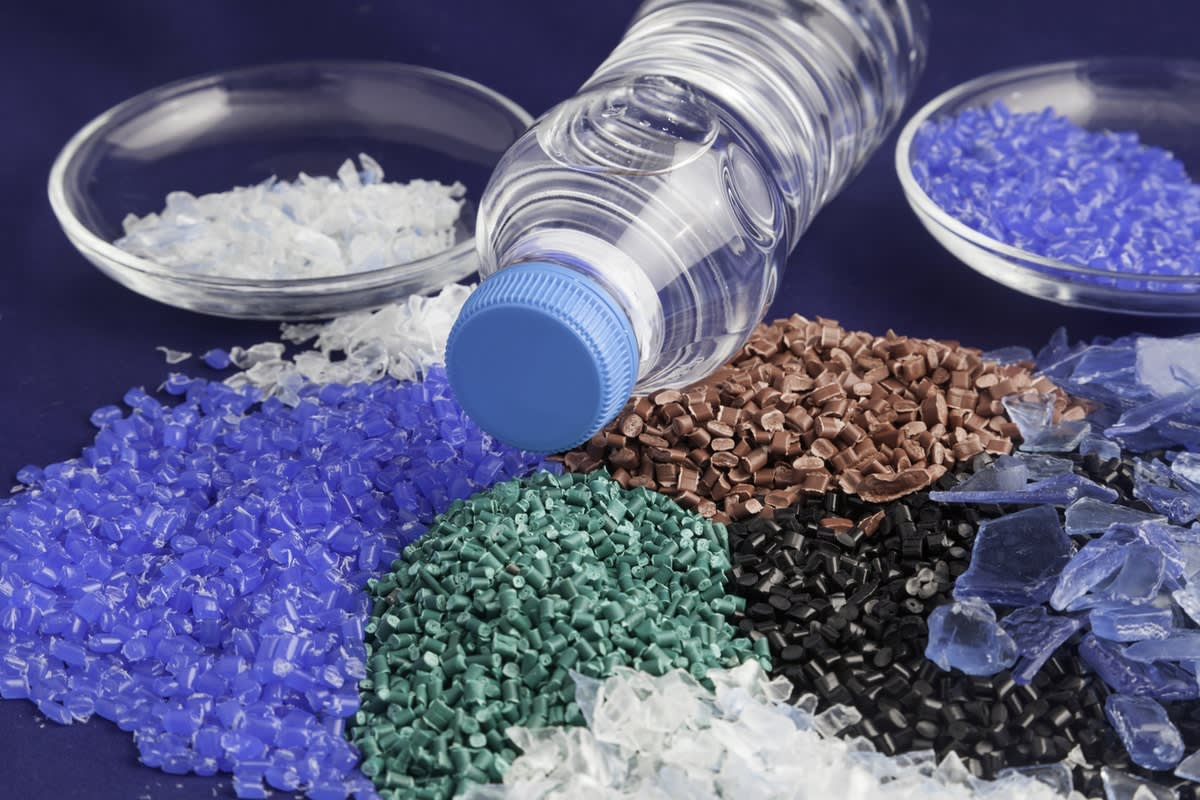 image of plastics to be recycled and reused