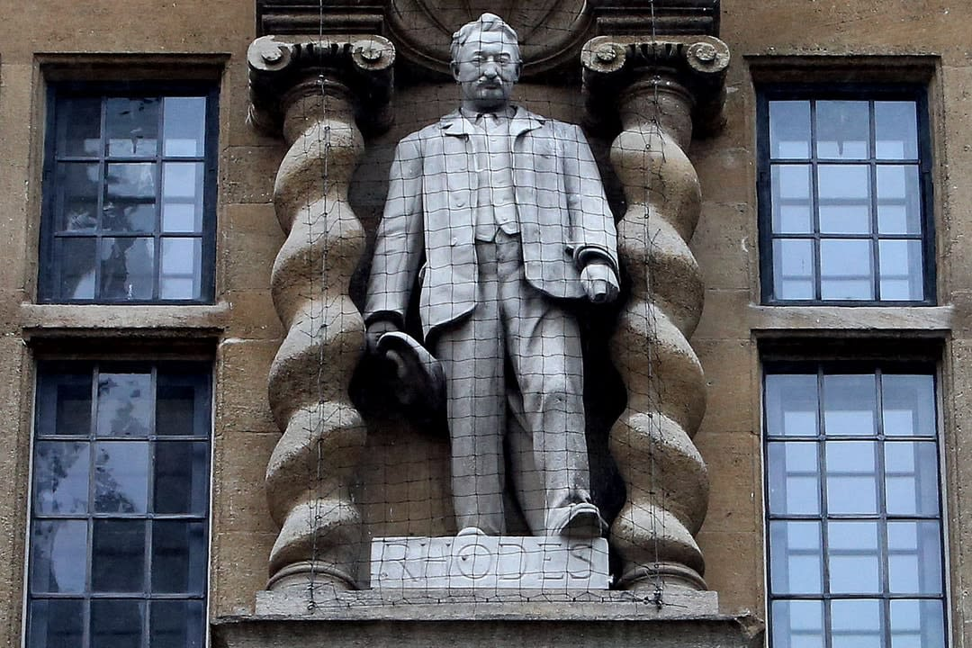 The Cecil Rhodes statue that's been the target of protesters.