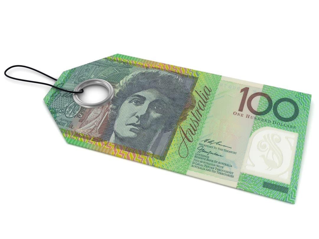 Australian $100 bill concept.