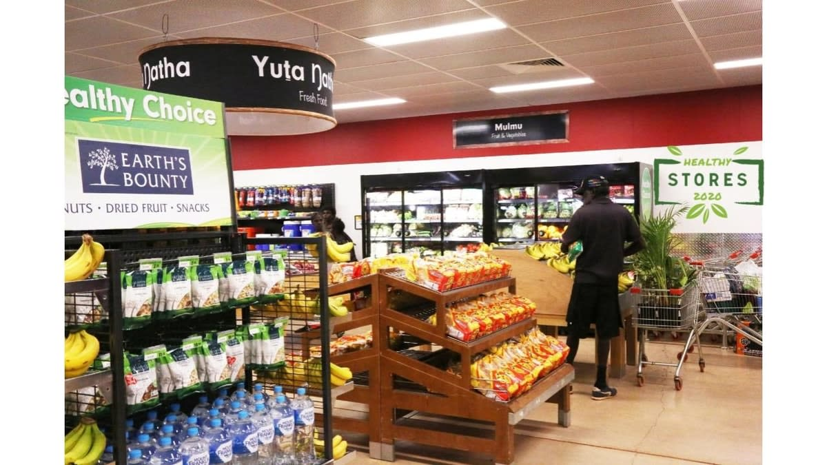 Interior of a Healthy Stores food stor