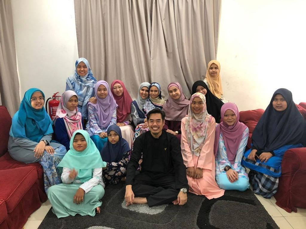 Picture of a group at Little Steps' Haneen Firdous home for girls in Malaysia.