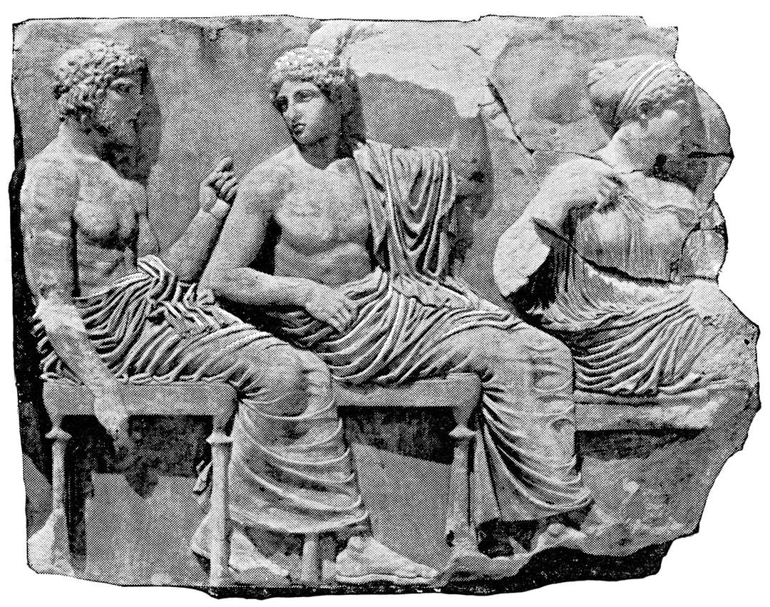 Part of the Parthenon Frieze at the Acropolis of Athens (circa 5th century BC).