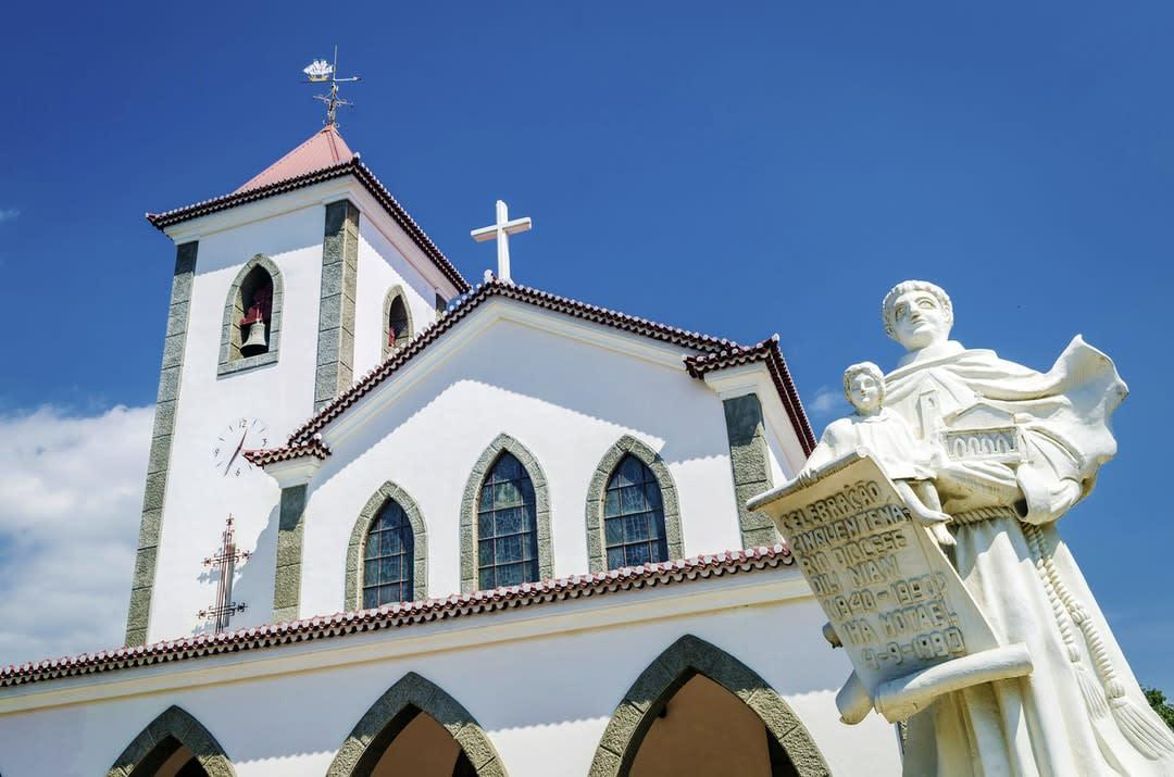 Portuguese Christian catholic church landmark in central Dili, Timor-Leste.