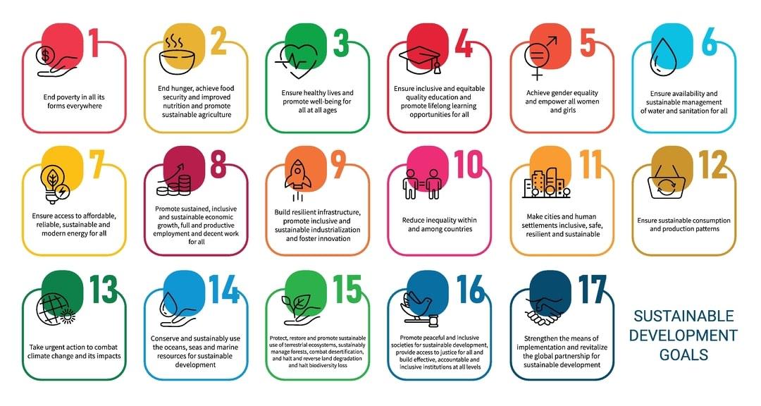 The 17 sustainable Development goals.