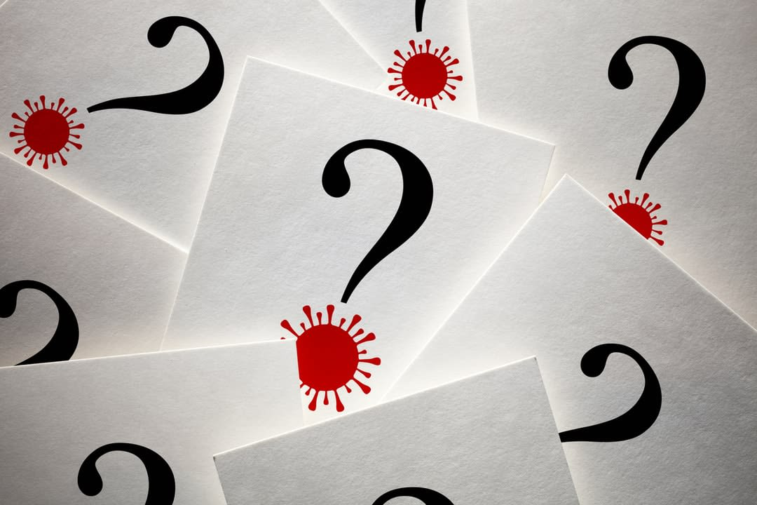 Cards with question marks on them.