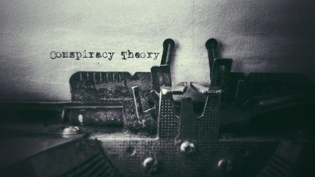 Typewriter typing conspiracy theory