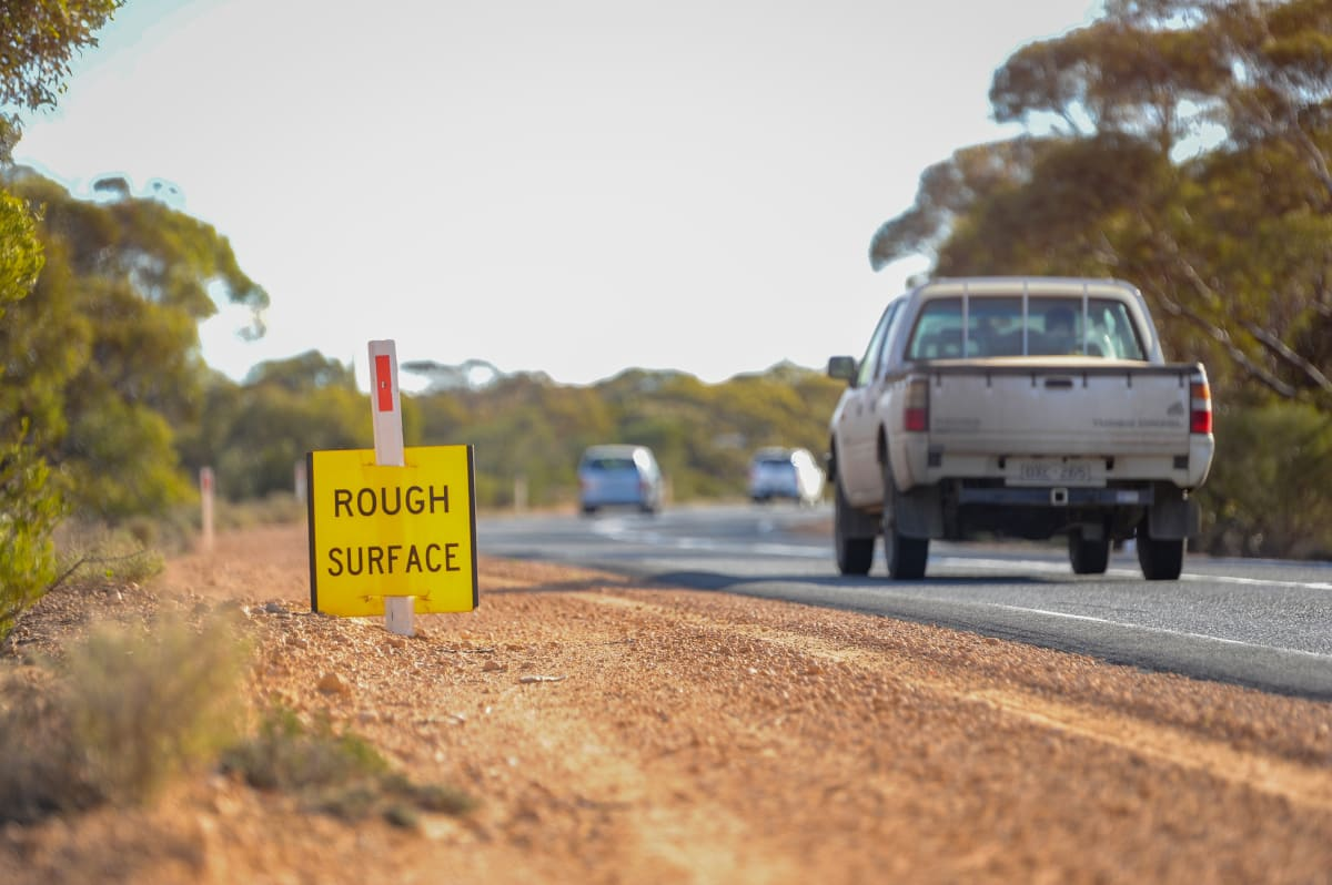 Hattah-Robinvale Road. Picture: Ben Gross