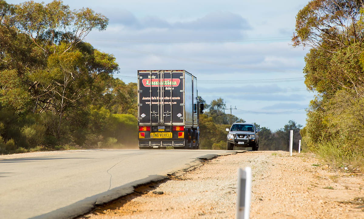 The Hattah-Robinvale Road on Tuesday. Picture: Ben Gross