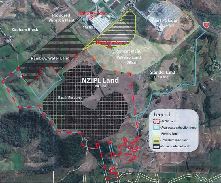 A map appended to the supreme Court judgment shows the big Synlait factory next door to the property owned by NZ Industrial Park Ltd.