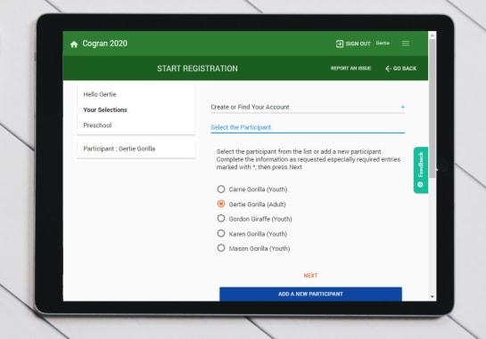 IPad Registration Forms