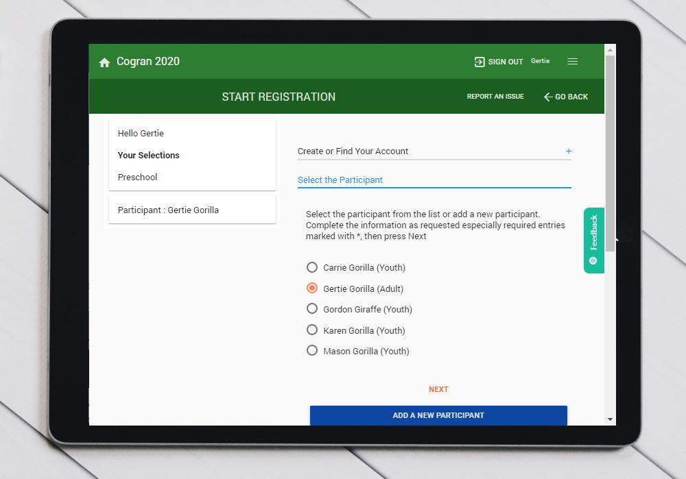 Cogran Registration Forms