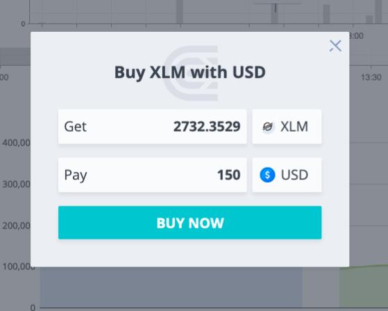 Buying Stellar Lumens on CEX.io