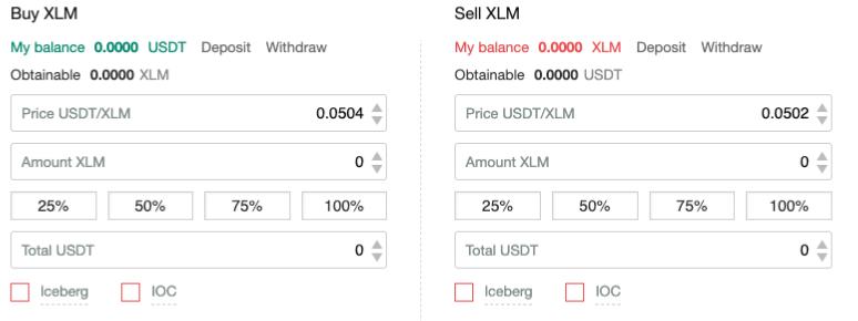 Buying Stellar Lumens on Gate.io