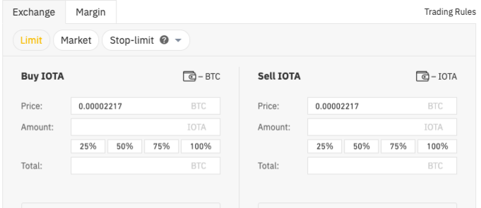 Buying IOTA on Binance