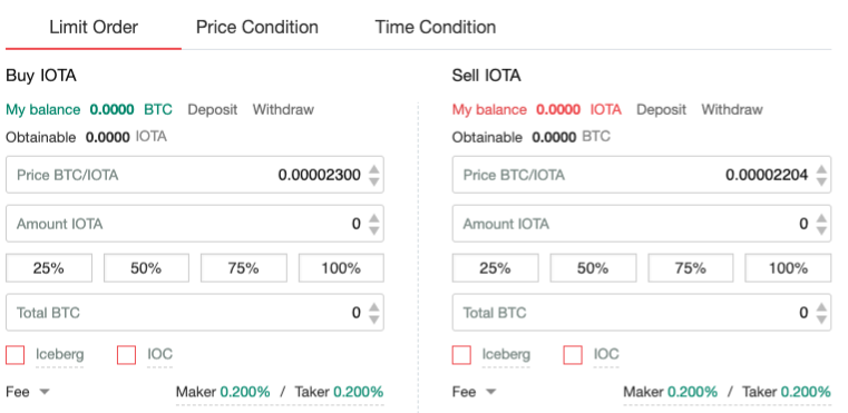 Buying IOTA on Gate.io