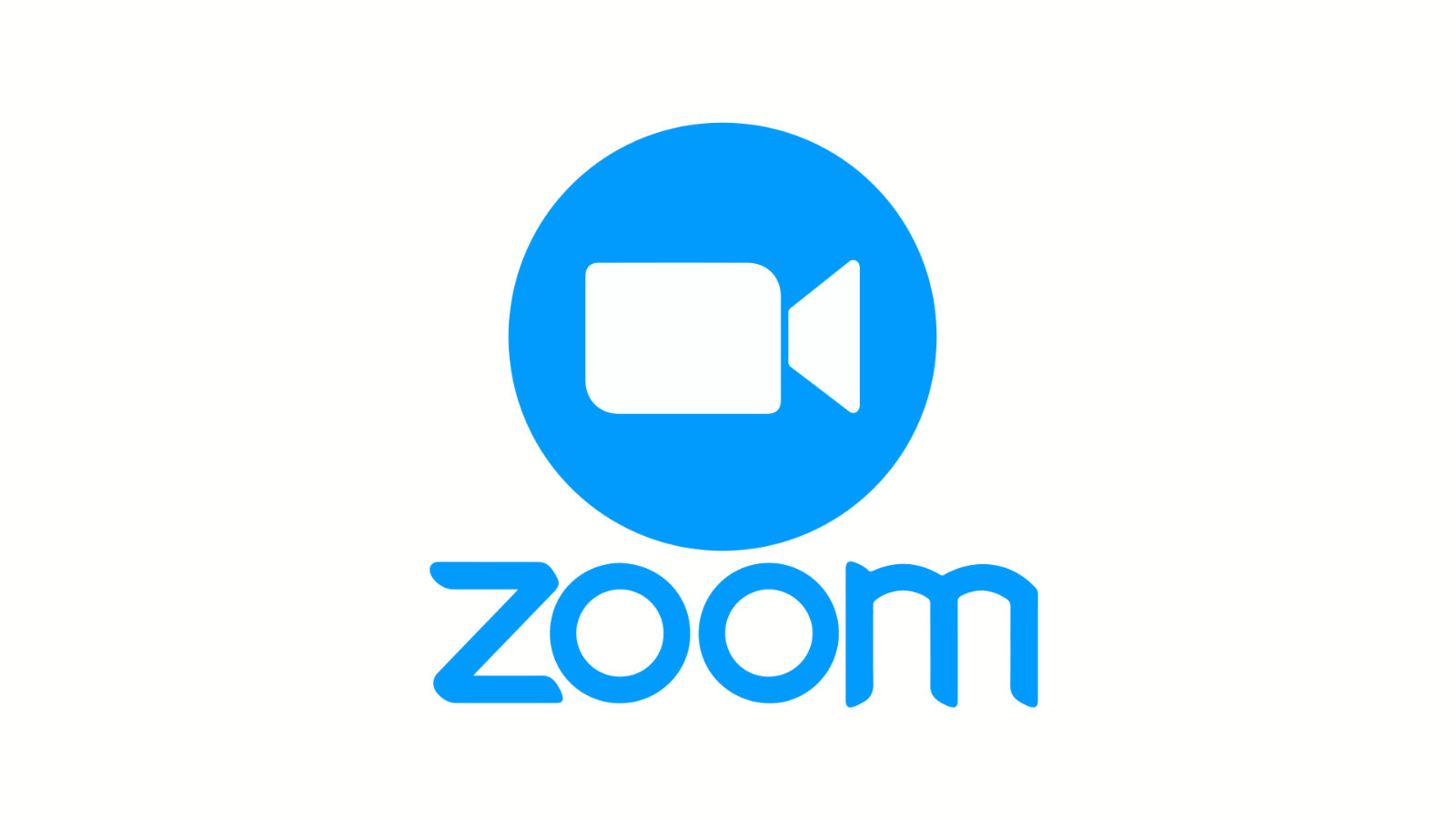 The Zoom logo on a blue background.