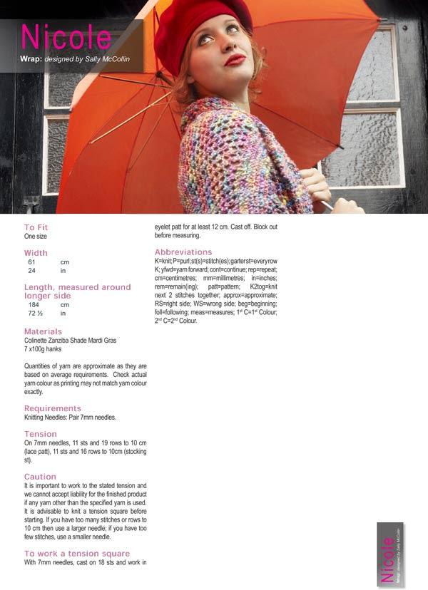Nicole Zanziba PDF digital pattern