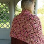 Openwork trellis wrap in Point five digital pattern