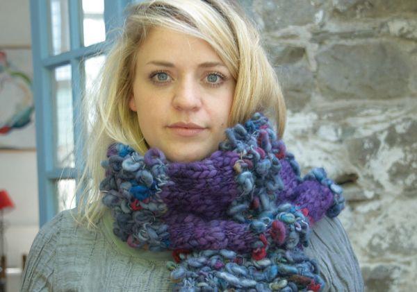 Fur stitch scarf digital pattern