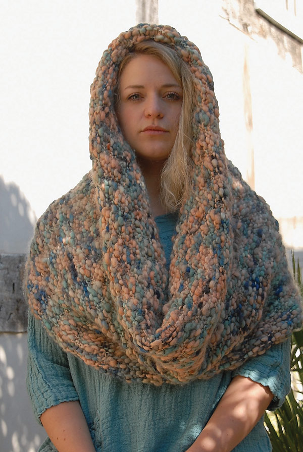 Garter stitch snood digital pattern