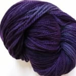 Large Skein – Skye  aran wool 500g skein – Velvet Bilberry