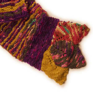 Layered Leaves scarf pattern