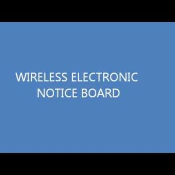 wireless electronic notice board using zigbee