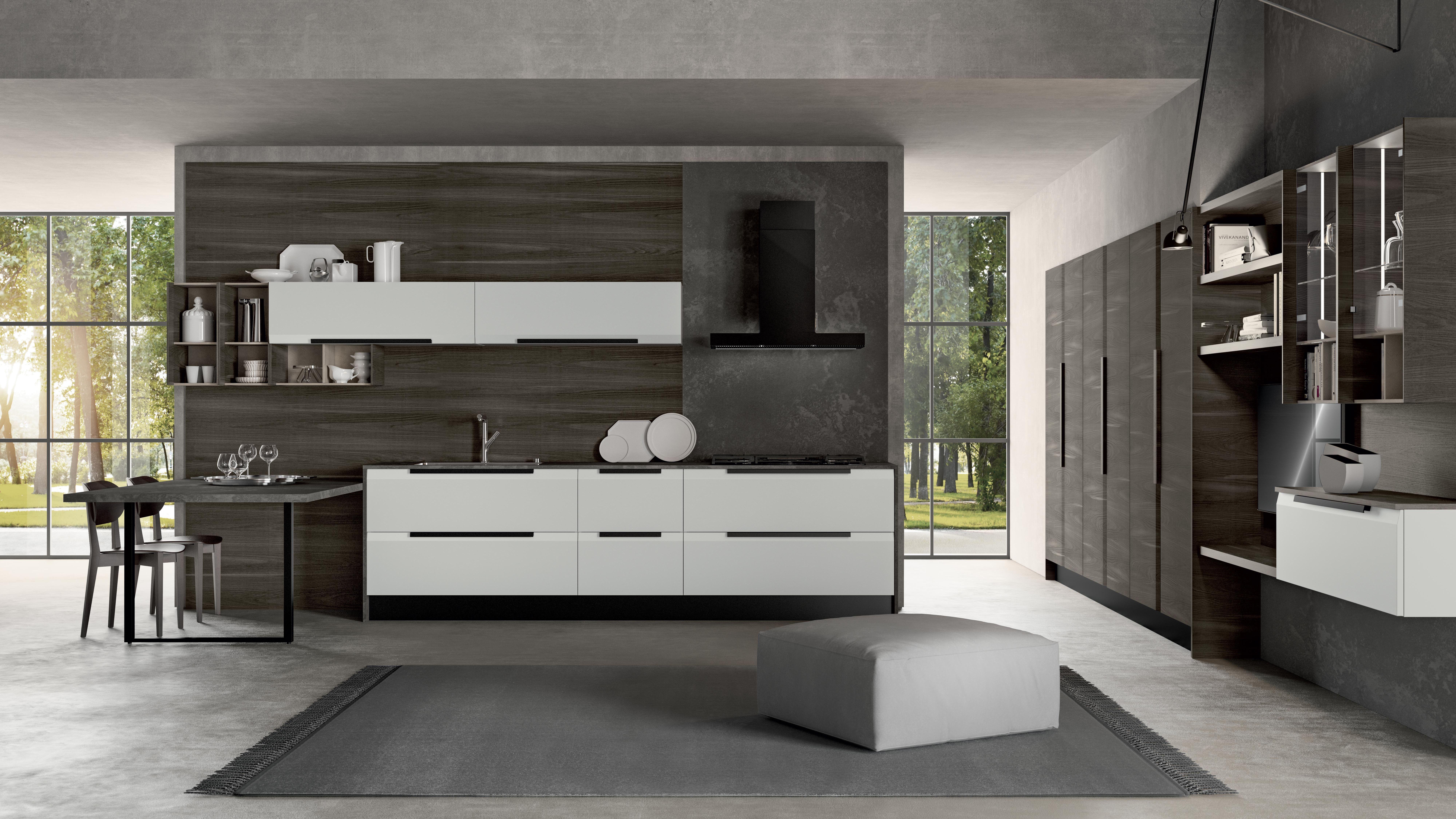 Mobili e arredamento cucina febal casa for Cucine moderne scure