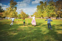 Playing on the Palace Green