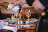 wine, dinner, food