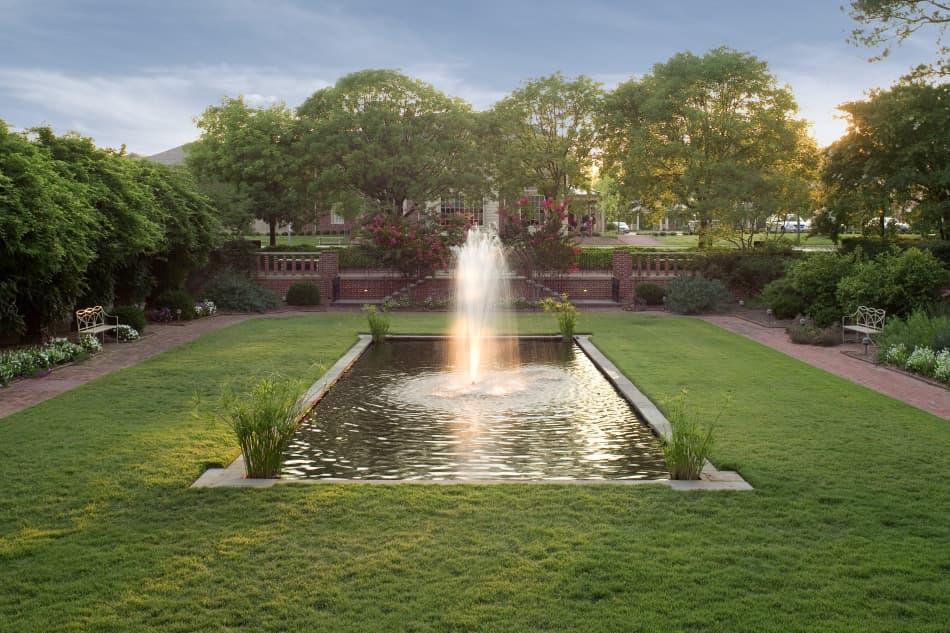 The Fountain Garden at sunset