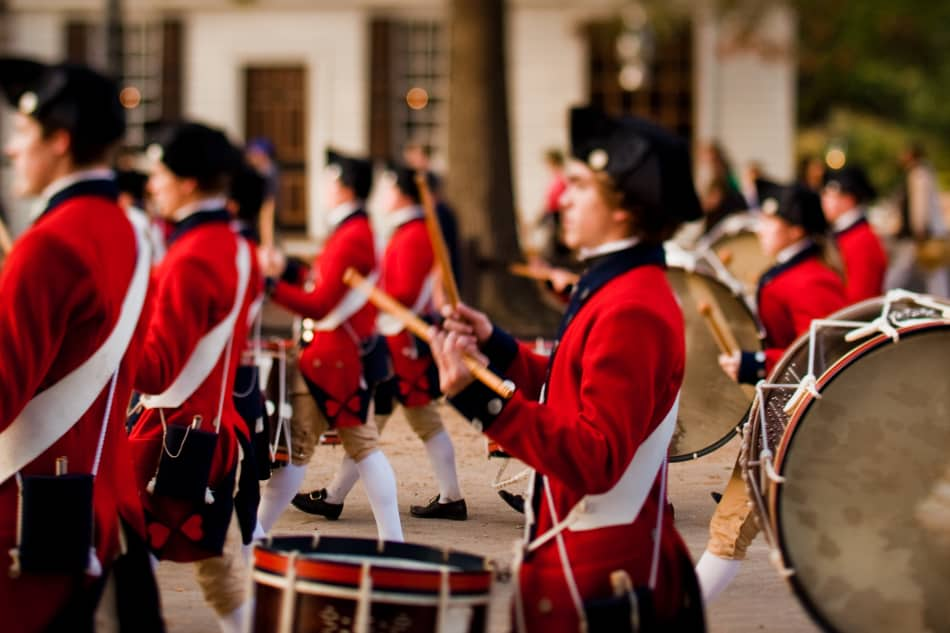 Fifes and Drums marching
