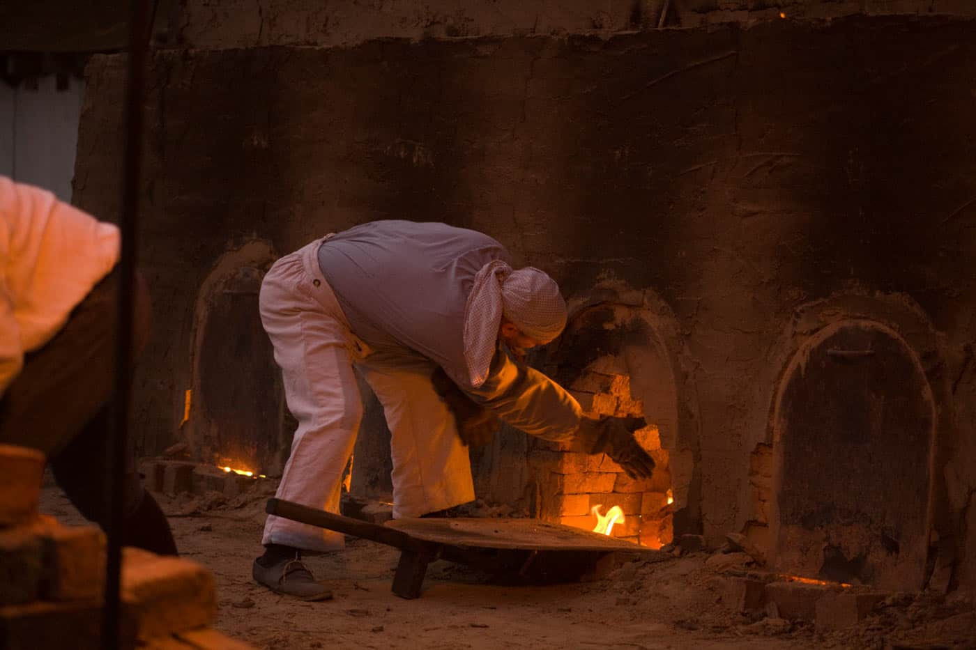 Firing the Brick Kiln