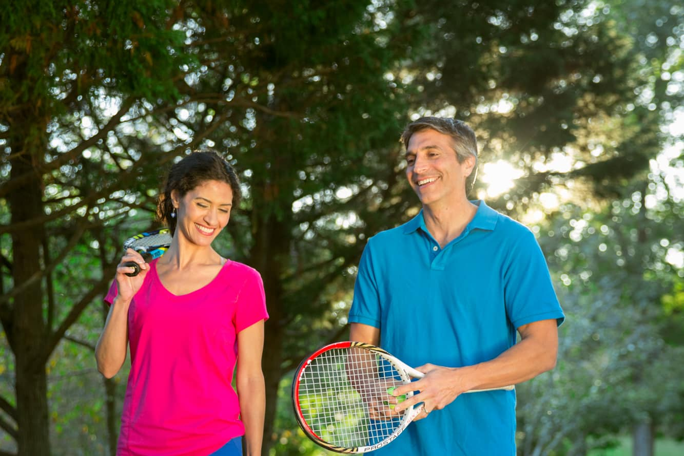 A friendly tennis match