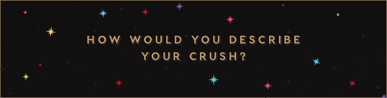 How would you describe your crush?