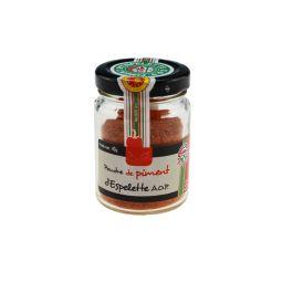 ESPELETTE PEPPER POWDER - Le piment d'Espelette, épice emblématique du Pays-Basque, exhausteur de goût par excellence, ajoutera une touche rafinée et légèrement relevée à vos préparations culinaires !