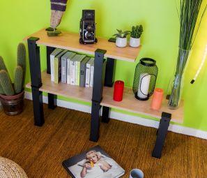 Etagère Uzy - Étagère 10 pieds modulables, disponible en différentes couleurs