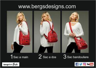 Bergs Flexy - Bergs Designs introduisent le berg3in1flexy, le nouveau sac ingénieux des créateurs du bergs3in1 (sac à roulettes). Flexible, il s'adapte à votre mode de vie. Ces innovants créateurs vous offrent ici un excellent sac qui se convertit à votre guise en sac à dos, sac cabas ou sac bandoulière grâce à ses lanières ajustables. Il est disponible en 2 tailles et plusieurs couleurs, selon vos préférences et humeurs. Il est à la fois léger et imperméable, et - comme tous les produits de Bergs Design - il est conçu pour durer
