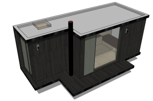 Kab'inn Joy - One of our tiny-house models, the Kab'inn Joy, will be presented in Paris Fair in premiere! It is a modern and minimalist house, opened on the outside, ideal for weekends, holidays, to share moments together with your family and friends!