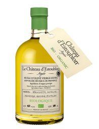 Olive Oil - AOP BIO - Bouche : une belle intensité. On perçoit des touches d'herbe fraîchement coupée avec une finale légèrement ardente. Bel équilibre entre les différentes variétés : Béruguette, Bouteillan, Grossane, Salonenque, et Picholine.