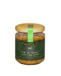 Kiwi from France Organic Jam - To change from the classical jam, we suggest you to try a new flavour : Kiwi! Thanks to our low temperature cooking, we offer you a quality product in which you will perfectly find the flavour and colour of this delicious fruit but also the texture, with some small pieces that makes it even more gourmet. This jam is part of Favols' 100% French and Organic range, with organic fruits and (beet) sugar, both from France! Perfect for breakfast, a snack, as an ingredient in a dessert or even as a treat straight from the jar!